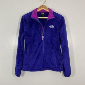 The North Face Purple Otiso Fuzzy Zip Up Jacket